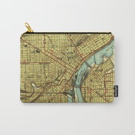 Vintage Map of Toledo Ohio (1938) Carry-All Pouch