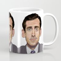 michael scott Mugs featuring Michael Scott-World's Best Boss by Dylan Holden