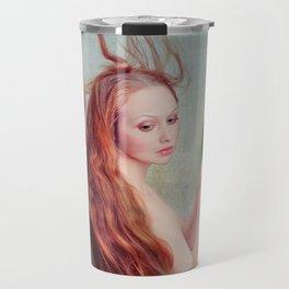 Girl with Mask Travel Mug
