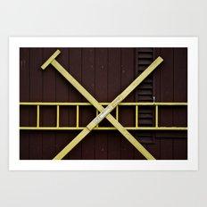 Door with x Art Print
