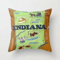 indiana Throw Pillows featuring INDIANA by Christiane Engel