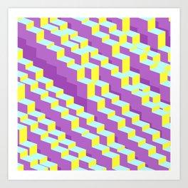 Geometric stairway Art Print