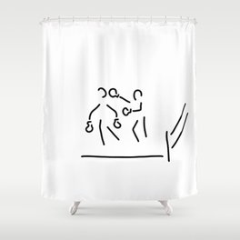 punch boxer boxing match Shower Curtain