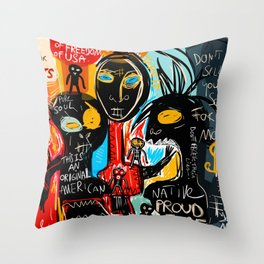 We're the children of freedom Throw Pillow