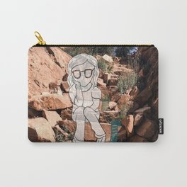 Slinky On Desert Stairs Carry-All Pouch