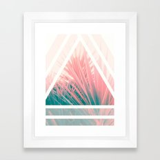 Pastel Palms into Triangle Framed Art Print
