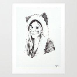 Dotwork Portrait Art Print
