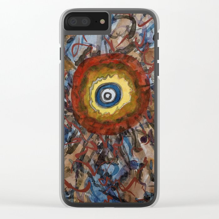 Centered in the Middle Clear iPhone Case