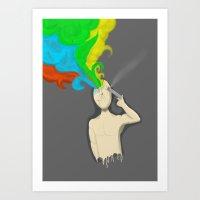 A colourful mind Art Print