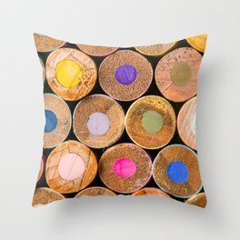COLORED PENCILS 3 Throw Pillow