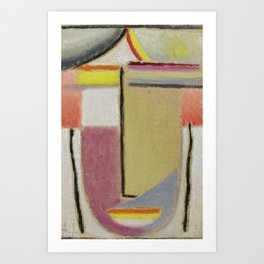 Alexej von Jawlensky 1864-1941  (SMALL ABSTRACT HEAD) Art Print