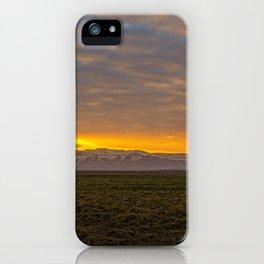 Eyjafjallajökull Sunrise Iceland iPhone Case
