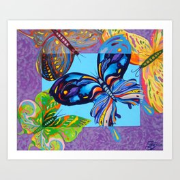 Butteflies are Free to Fly Art Print