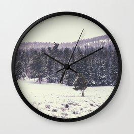 Colorado Winter Trees Wall Clock
