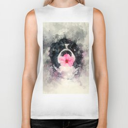 Dog with Flower Biker Tank