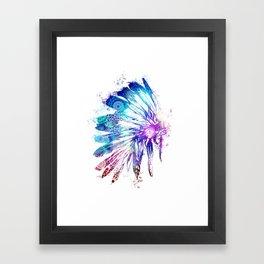 mandala colorful headdress Framed Art Print