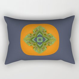 Persimmon Mandala Rectangular Pillow