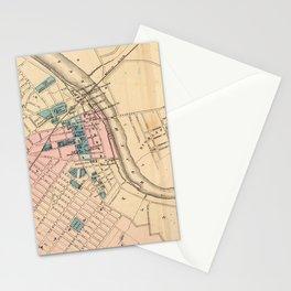 Vintage Map of New Brunswick NJ (1872) Stationery Cards