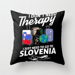 Slovenia flag I Slovenian Souvenirs Throw Pillow
