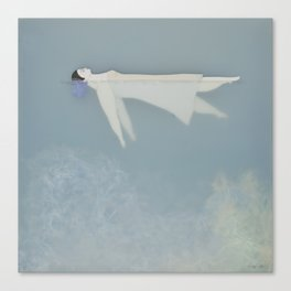Afloat (Water Woman X) Canvas Print