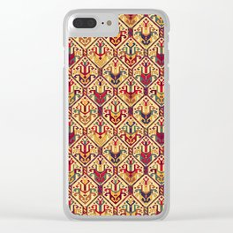 Kilim Fabric Clear iPhone Case