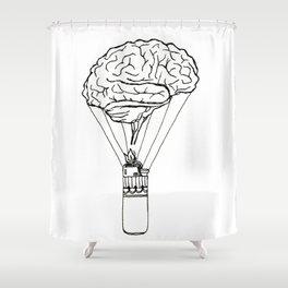 Light up my brain Shower Curtain