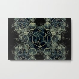 Sacred Geometry for your daily life -  Platonic Solids - ETHER Metal Print