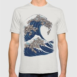 The Great Wave of Sloth T-shirt