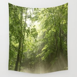 Spring Forest Mist Wall Tapestry