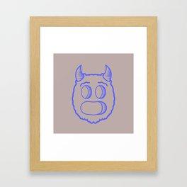 Monster head Framed Art Print
