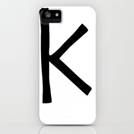 K Monogram (Hand 2) iPhone Case