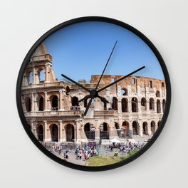 The Colosseum in Rome, Italy Wall Clock