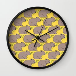 Wombat Parade II Wall Clock