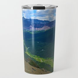 Views along the Bald Hills Hike in the Maligne Valley of Jasper National Park, Canada Travel Mug