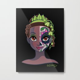Sugar Skull Series: Frog Princess Metal Print