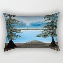 Moonlight on the Trace Rectangular Pillow