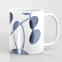 Organic abstract watercolor in blue Coffee Mug