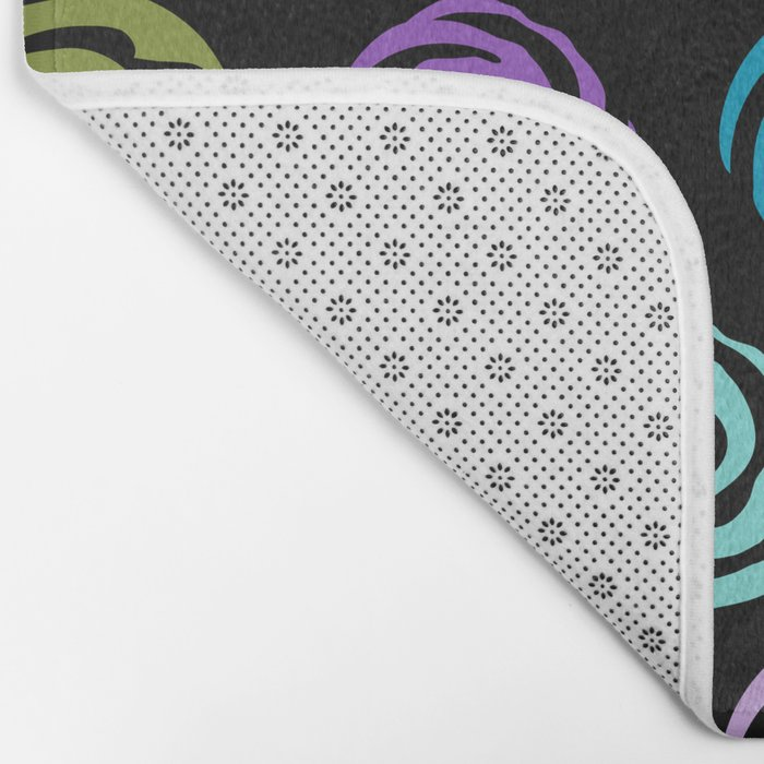 Circles Abstract Seamless Pattern 2 Bath Mat