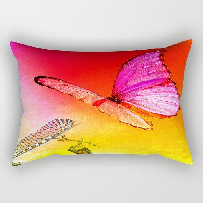 The butterfly, the caterpillar and the chrysalis Rectangular Pillow