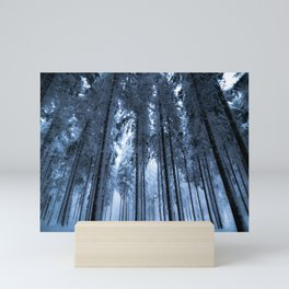 Snowy Winter Trees - Forest Nature Photography Mini Art Print