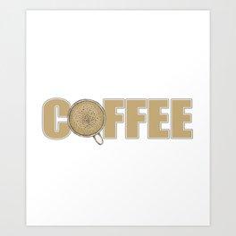 Accountant Powered By Coffee Art Print