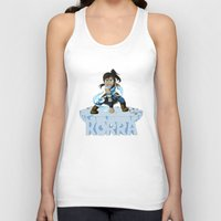 the legend of korra Tank Tops featuring Korra by HelloTwinsies