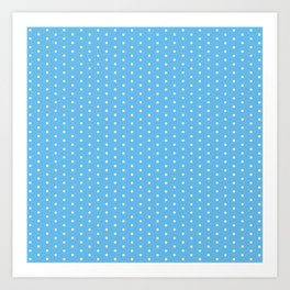White dots on light blue background Art Print