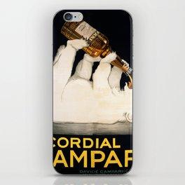 Vintage Polar Bear Liquor Poster iPhone Skin