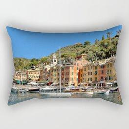 Colorful Fishing Village Rectangular Pillow