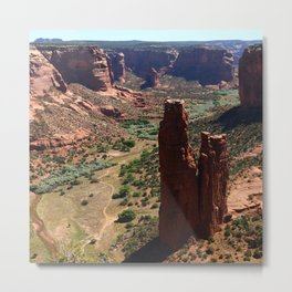 Spider Rock - Amazing Rockformation Metal Print
