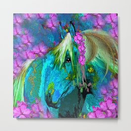 SOME HORSES ARE LADIES Metal Print