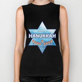 Hanukkah Candles tonight Biker Tank