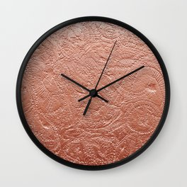 Copper Jellyfish Wall Clock