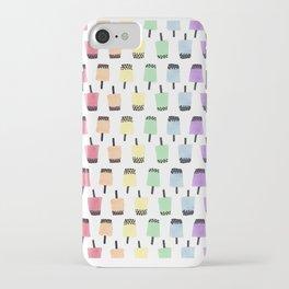 Rainbow Watercolor Bubble Tea iPhone Case